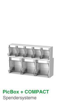 PicBox + COMPACT · Spendersysteme und Entsorgungsboxen
